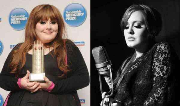adele瘦的时候 阿黛尔变胖前后对比照曝光 路人到巨星胖女孩时尚进化曝光