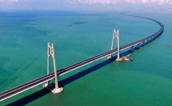 伶仃洋 世界最长跨海大桥:港珠澳大桥 全长55公里