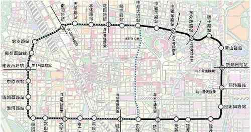 郑州5号线地铁线路图 郑州地铁5号线最新线路图及站点分布明细 征迁工作启动
